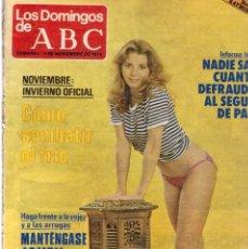 Coleccionismo de Los Domingos de ABC: 1979 VICTORIA ABRIL.LUIS DE CARLOS.JUAN HARO.LIZA MINELLI.TRINIDAD VIVES.ANITA WARD. VER FOTOGRAFÍAS. Lote 170400556