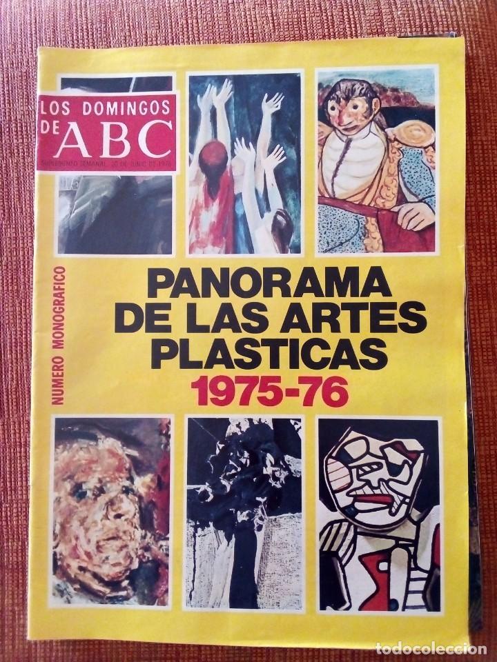 PANORAMA DE LAS ARTES PLÁSTICAS 1.975-1.976. MONOGRÁFICO (Coleccionismo - Revistas y Periódicos Modernos (a partir de 1.940) - Los Domingos de ABC)