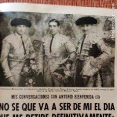 Coleccionismo de Los Domingos de ABC: ANTE LA NAVIDAD Y REPORTAJE ANTONIO BIENVENIDA 1.976. Lote 171350335