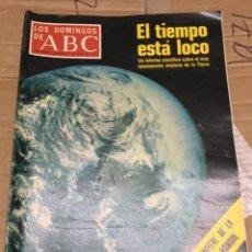 Coleccionismo de Los Domingos de ABC: LOS DOMINGOS DE ABC (19-6-1977) EL TIEMPO ESTA LOCO LA LUNA TENIS WIMBLEDON . Lote 171530477