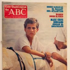 Coleccionismo de Los Domingos de ABC: ABC 1 SEPTIEMBRE 1985, EL PRINCIPE DE ASTURIAS EDUCACION MILITAR, MADRID DESDE EL CIELO. Lote 171666639