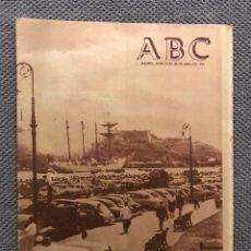 Colecionismo de Los Domingos de ABC: ABC DIARIO. MADRID, MIÉRCOLES 28 DE ABRIL DE 1954. EL JUAN SEBASTIÁN EL CANO. EN LA HABANA.. Lote 171822318