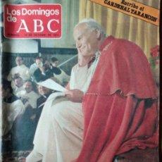 Coleccionismo de Los Domingos de ABC: LOS DOMINGOS DE ABC, OCT. 1979- JUAN PABLO II- QUADROPHENIA- CAZA- PREMIO PLANETA- LANCIA DELTA- SUP. Lote 173195774
