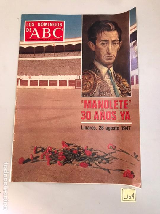 ABC MANOLETE 30 AÑOS YA (Coleccionismo - Revistas y Periódicos Modernos (a partir de 1.940) - Los Domingos de ABC)