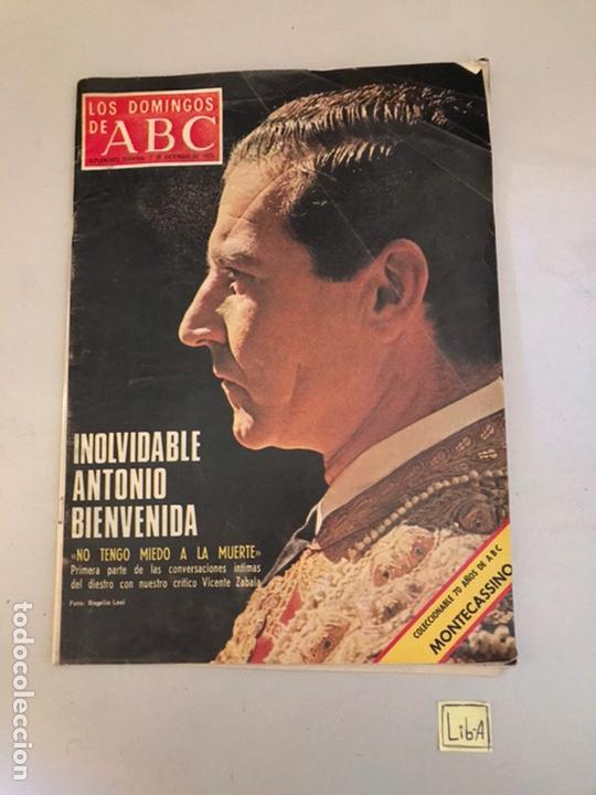 ABC. INOLVIDABLE ANTONIO BIENVENIDA (Coleccionismo - Revistas y Periódicos Modernos (a partir de 1.940) - Los Domingos de ABC)