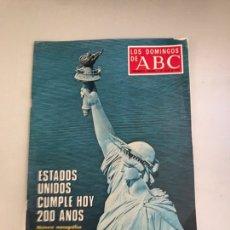 Coleccionismo de Los Domingos de ABC: ABC ESTADOS UNIDOS CUMPLE HOY 200 AÑOS. Lote 180034910