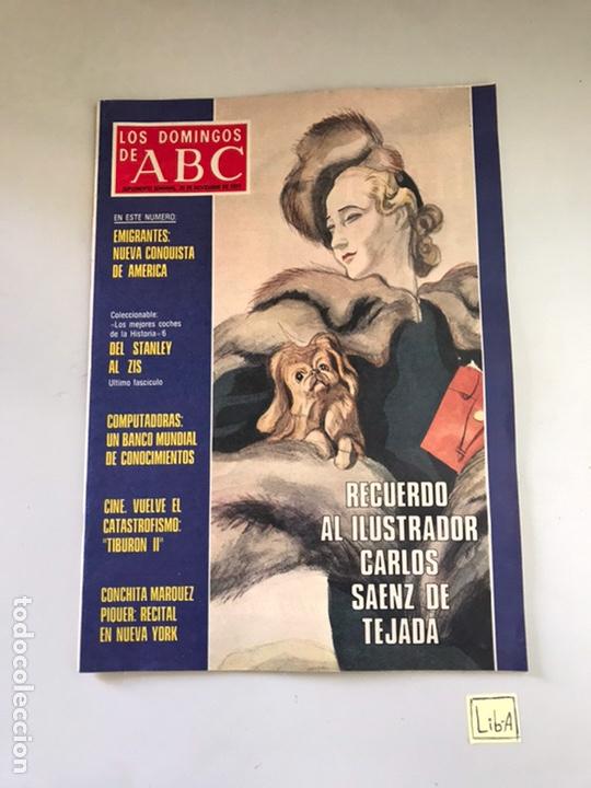 ABC RECUERDO AL ILUSTRADOR CARLOS SAINZ DE TEJADA (Coleccionismo - Revistas y Periódicos Modernos (a partir de 1.940) - Los Domingos de ABC)