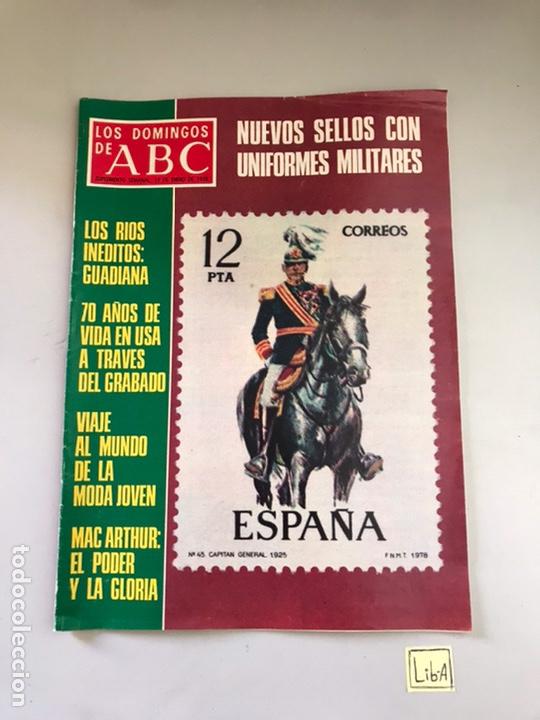 ABC - NUEVOS SELLOS CON UNIFORMES MILITARES (Coleccionismo - Revistas y Periódicos Modernos (a partir de 1.940) - Los Domingos de ABC)