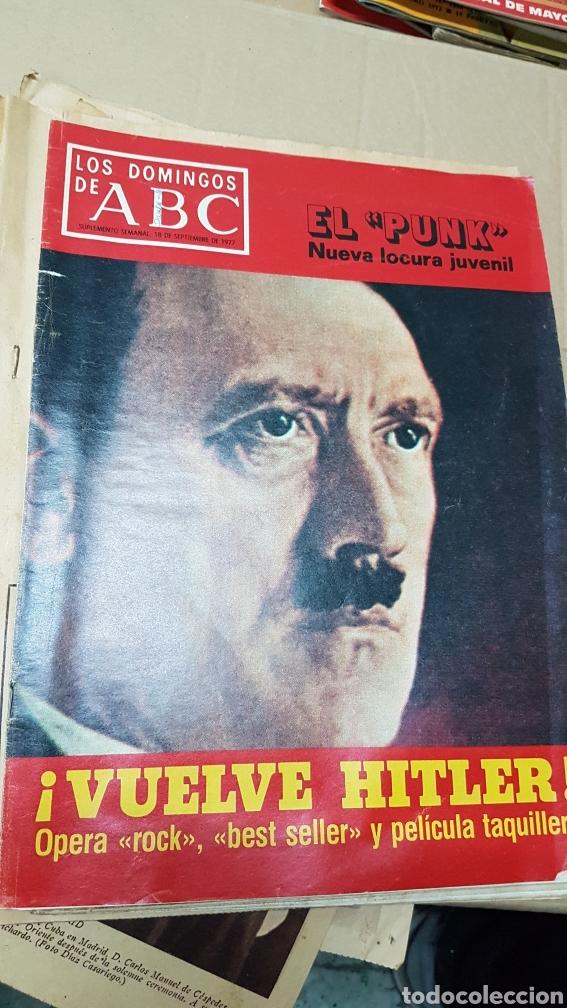 LOS DOMINGOS DE ABC 18 SEPTIEMBRE 1977 . EL PUNK .VUELVE HITLER (Coleccionismo - Revistas y Periódicos Modernos (a partir de 1.940) - Los Domingos de ABC)