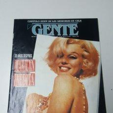 Coleccionismo de Los Domingos de ABC: REVISTA GENTE ESPECIAL MARYLIN MONROE. MARILYN INEDITA AÑO 1992. Lote 180203497
