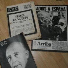 Coleccionismo de Los Domingos de ABC: 'ABC' Y 'ARRIBA' MUERTE DE FRANCO. Lote 184840433