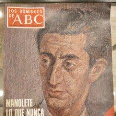 Coleccionismo de Los Domingos de ABC: T1 LOS DOMINGOS DE ABC. SUPLEMENTO SEMANAL. MANOLETE POR TICO MEDINA. TOROS. TAUROMAQUIA. 1975. Lote 186350981