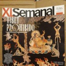 Collectionnisme de Los Domingos de ABC: REVISTA XL SEMANAL (ABC) Nº 1586 TIBET PROHIBIDO, LOS MURALES QUE OCULTAN LOS LAMAS. Lote 187376015