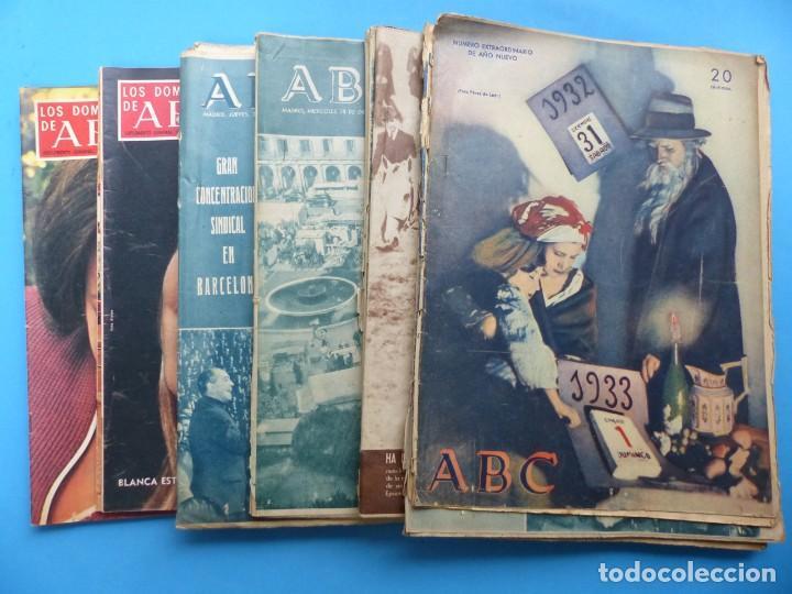 ABC, 13 ANTIGUAS REVISTAS, AÑOS 1930-1950-1960-1980 - VER FOTOS ADICIONALES (Coleccionismo - Revistas y Periódicos Modernos (a partir de 1.940) - Los Domingos de ABC)