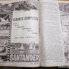 Coleccionismo de Los Domingos de ABC: LOS DOMINGOS DE ABC TOMO 1955, PUBLICIDAD SANTANDER Y MUCHOS TEMAS INTERESANTES, FALTO. Lote 188775661