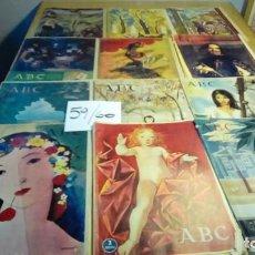 Coleccionismo de Los Domingos de ABC: ABC AÑOS 59 Y 60-12 EJEMPLARES. Lote 191165437