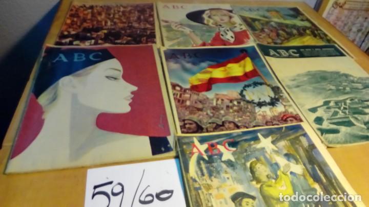7 EJEMPLARES AÑOS 59 Y 60 (Coleccionismo - Revistas y Periódicos Modernos (a partir de 1.940) - Los Domingos de ABC)