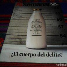 Coleccionismo de Los Domingos de ABC: ABC XL SEMANAL 1674. 30-11-19. LA LECHE, ESPECIAL VINOS, JEAN-CLAUDE JUNCKER, LEICA, EL SAHEL. BE.. Lote 191581751