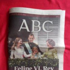 Coleccionismo de Los Domingos de ABC: ABC 20 - 6 - 2014 FELIPE VI REY. Lote 193241203