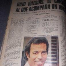 Coleccionismo de Los Domingos de ABC: JULIO IGLESIAS , EL CANTOR AL QUE ACOMPAÑA UN ÁNGEL. 4 PAGINAS . AÑO 1975. Lote 194528385