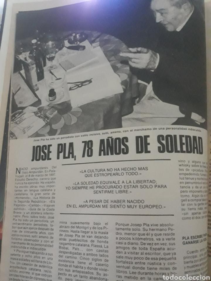 ENTREVISTA A JOSEP PLA ,78 AÑOS DE SOLEDAD . 4 PAGINAS .AÑO 1975 (Coleccionismo - Revistas y Periódicos Modernos (a partir de 1.940) - Los Domingos de ABC)