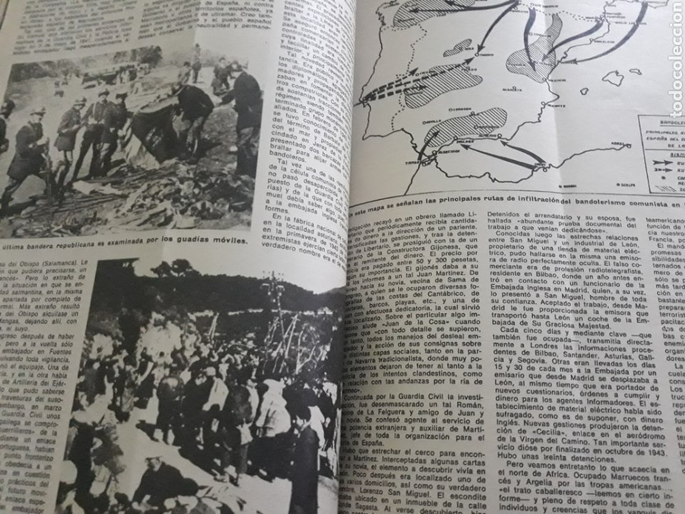 Coleccionismo de Los Domingos de ABC: LA GUERRA DESCONOCIDA CONTRA LOS MAQUIS . DOCUMENTO PERIODÍSTICO DE 5 PAGINAS AÑO 1975 - Foto 2 - 194533425