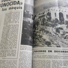 Coleccionismo de Los Domingos de ABC: LA GUERRA DESCONOCIDA CONTRA LOS MAQUIS . DOCUMENTO PERIODÍSTICO DE 5 PAGINAS AÑO 1975. Lote 194533425