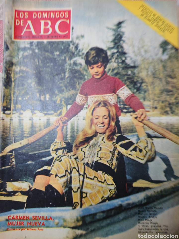 CARMEN SEVILLA REVISTA LOS DOMINGOS DE ABC 2 DE ENERO 1972 (Coleccionismo - Revistas y Periódicos Modernos (a partir de 1.940) - Los Domingos de ABC)