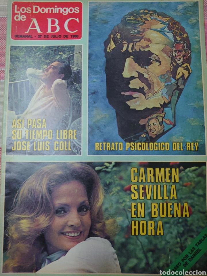 CARMEN SEVILLA, JOSÉ LUIS COLL, REY JUAN CARLOS REVISTA LOS DOMINGOS DE ABC JULIO 1960. (Coleccionismo - Revistas y Periódicos Modernos (a partir de 1.940) - Los Domingos de ABC)