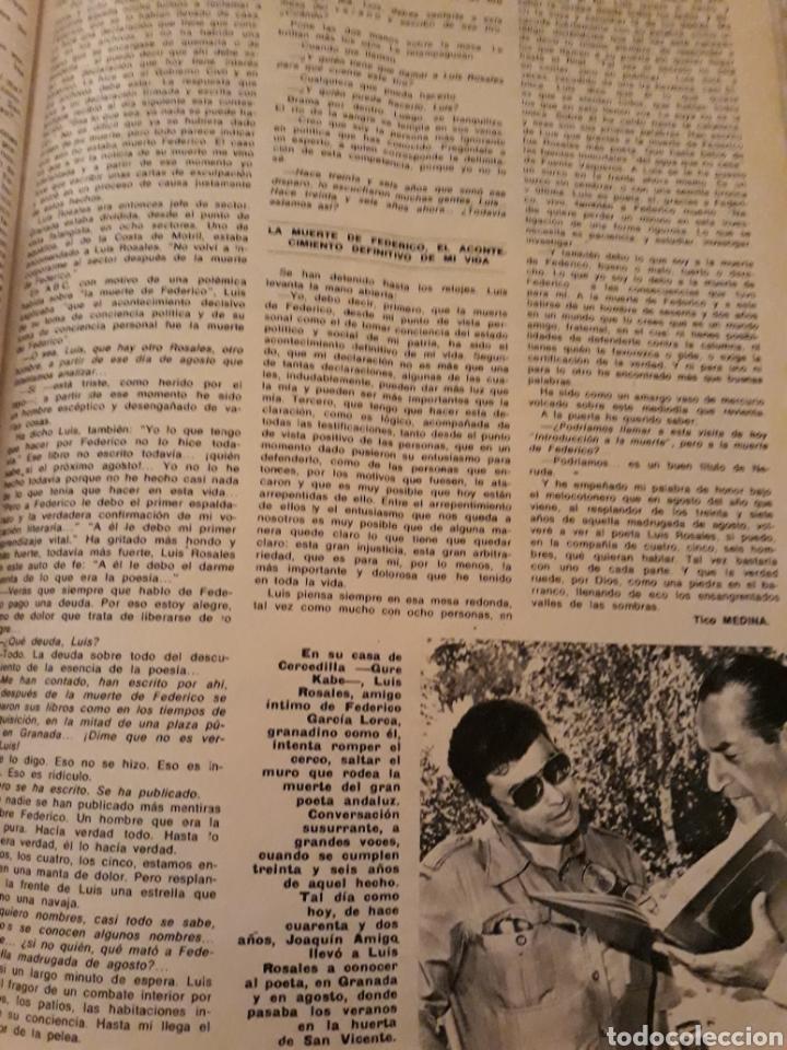 Coleccionismo de Los Domingos de ABC: INTRODUCCIÓN A LA MUERTE DE FEDERICO GARCÍA LORCA. LUIS ROSALES . TICO MEDINA . AÑO 1972. 5 PAGINAS - Foto 5 - 194989301
