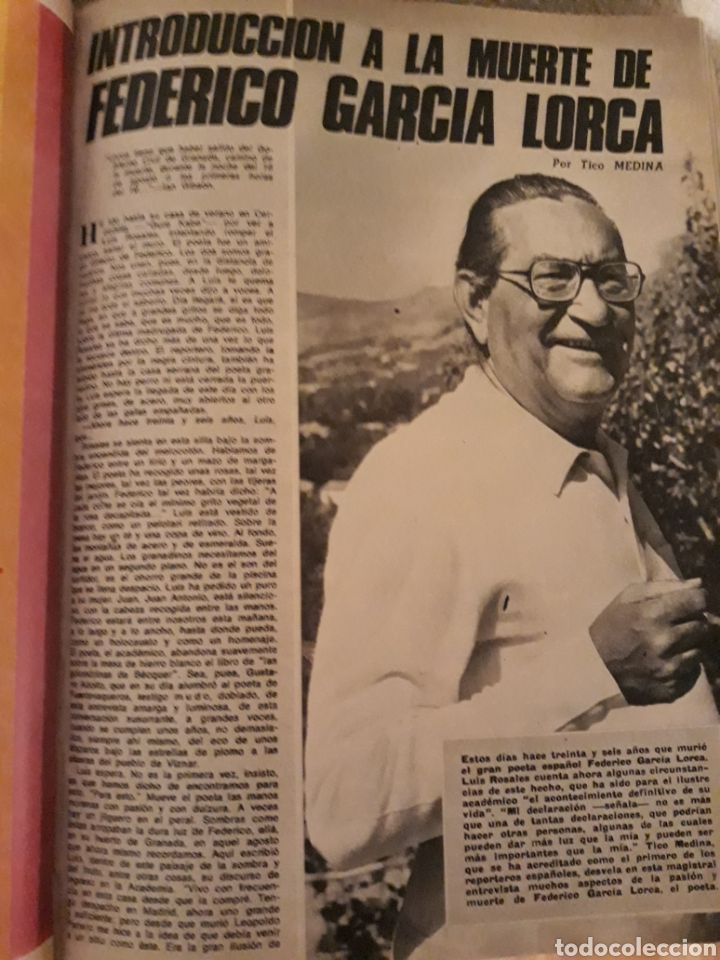 INTRODUCCIÓN A LA MUERTE DE FEDERICO GARCÍA LORCA. LUIS ROSALES . TICO MEDINA . AÑO 1972. 5 PAGINAS (Coleccionismo - Revistas y Periódicos Modernos (a partir de 1.940) - Los Domingos de ABC)