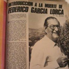 Coleccionismo de Los Domingos de ABC: INTRODUCCIÓN A LA MUERTE DE FEDERICO GARCÍA LORCA. LUIS ROSALES . TICO MEDINA . AÑO 1972. 5 PAGINAS. Lote 194989301