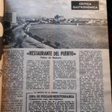 Coleccionismo de Los Domingos de ABC: RESTAURANTE DEL PUERTO PALMA DE MALLORCA . CRITICA GASTRONÓMICA AÑO 1970. HOJA .POR SAVARIN. Lote 195291715