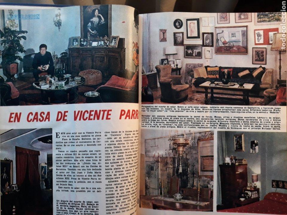 DECORACION .EN CASA DE VICENTE PARRA . DOS PAGINAS AÑO 1970 (Coleccionismo - Revistas y Periódicos Modernos (a partir de 1.940) - Los Domingos de ABC)