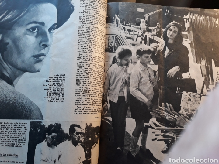 Coleccionismo de Los Domingos de ABC: LUCIA BOSE ,EN CAPRI . 7 PAGINAS AÑO 1970 . - Foto 4 - 195297246