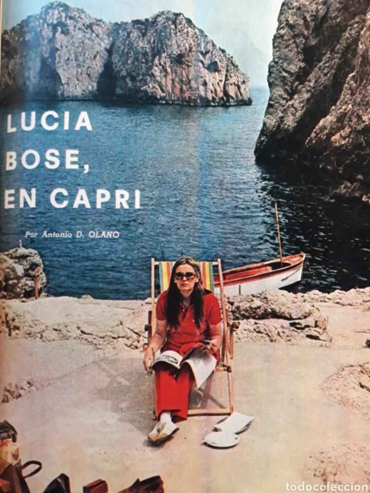 LUCIA BOSE ,EN CAPRI . 7 PAGINAS AÑO 1970 . (Coleccionismo - Revistas y Periódicos Modernos (a partir de 1.940) - Los Domingos de ABC)