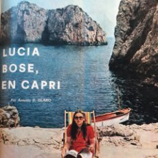 Coleccionismo de Los Domingos de ABC: LUCIA BOSE ,EN CAPRI . 7 PAGINAS AÑO 1970 .. Lote 195297246