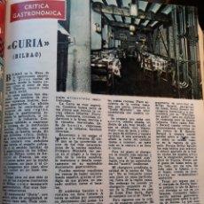 Coleccionismo de Los Domingos de ABC: RESTAURANTE GURIA , BILBAO . CRÍTICA GASTRONÓMICA. SAVARIN .PAGINA AÑO 1970. Lote 195297867