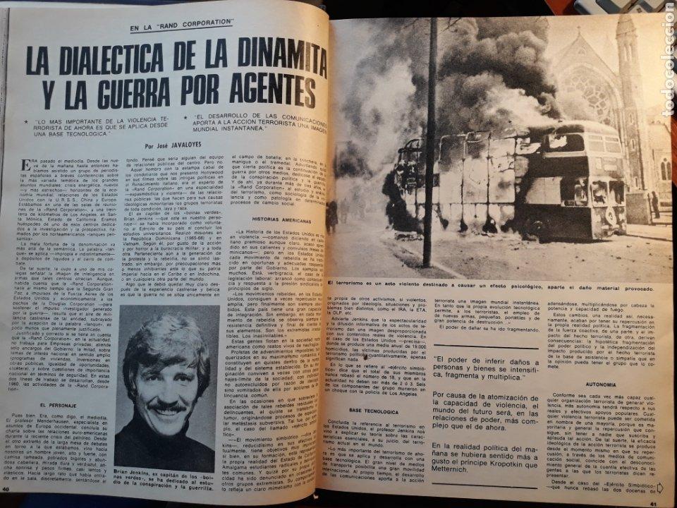 LA DIALECTICA DE LA DINAMITA Y LA GUERRA POR AGENTES . ARTÍCULO DE 1975 . 4 PÁGINAS. (Coleccionismo - Revistas y Periódicos Modernos (a partir de 1.940) - Los Domingos de ABC)
