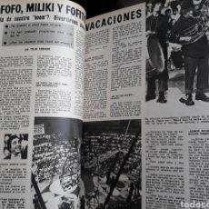 Coleccionismo de Los Domingos de ABC: GABY , FOFO, MILIKI Y FOFITO, DE VACACIONES. ENTREVISTA 5 PAGINAS AÑO 1975.. Lote 195382985