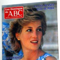Collectionnisme de Los Domingos de ABC: SEMANAL DOMINGOS ABC SEPTIEMBRE 1987. FRANCO BATTIATO - LADY DI -. EL PRIMER TERCIO MOVIDA MADRILEÑA. Lote 195730811