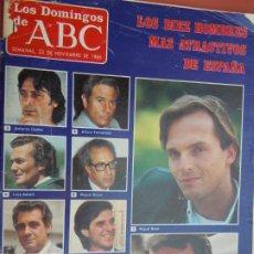 Colecionismo de Los Domingos de ABC: LOS DOMINGOS DE ABC Nº 968 23-11-1986 .LOS DIEZ HOMBRES MAS ATRACTIVOS DE ESPAÑA . Lote 197950802
