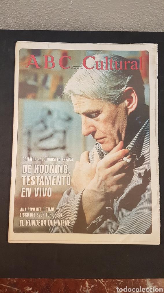 ABC CULTURAL. NUMERO 120. 18 DE FEBRERO 1994. WILLEM DE KOONING, ESCRITOR MILAN KUNDERA (Coleccionismo - Revistas y Periódicos Modernos (a partir de 1.940) - Los Domingos de ABC)