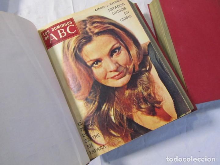Coleccionismo de Los Domingos de ABC: 2 tomos encuadernados con 50 números de Los domingos de ABC, 1968, 1971, 1972 - Foto 7 - 198570228