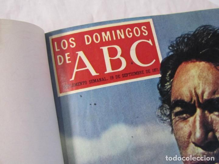 Coleccionismo de Los Domingos de ABC: 2 tomos encuadernados con 50 números de Los domingos de ABC, 1968, 1971, 1972 - Foto 14 - 198570228