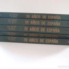 Coleccionismo de Los Domingos de ABC: 70 AÑOS DE ESPAÑA A TRAVÉS DEL ABC - COLECCIÓN COMPLETA 76 FASCÍCULOS EN 5 CARPETAS - 1905-1975 - BE. Lote 198929031