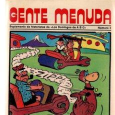 Coleccionismo de Los Domingos de ABC: GENTE MENUDA. Nº 3. LOS DOMINGOS DE ABC. A B C. 1976. POSTER: EPI Y BLAS. (ST/C86). Lote 199327262