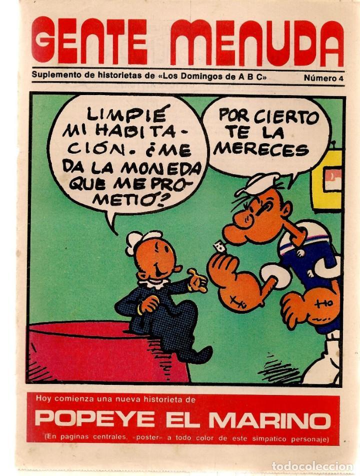 GENTE MENUDA. Nº 4. LOS DOMINGOS DE ABC. A B C. 1976. POSTER: POPEYE. (ST/C86) (Coleccionismo - Revistas y Periódicos Modernos (a partir de 1.940) - Los Domingos de ABC)