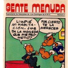 Coleccionismo de Los Domingos de ABC: GENTE MENUDA. Nº 4. LOS DOMINGOS DE ABC. A B C. 1976. POSTER: POPEYE. (ST/C86). Lote 199327413