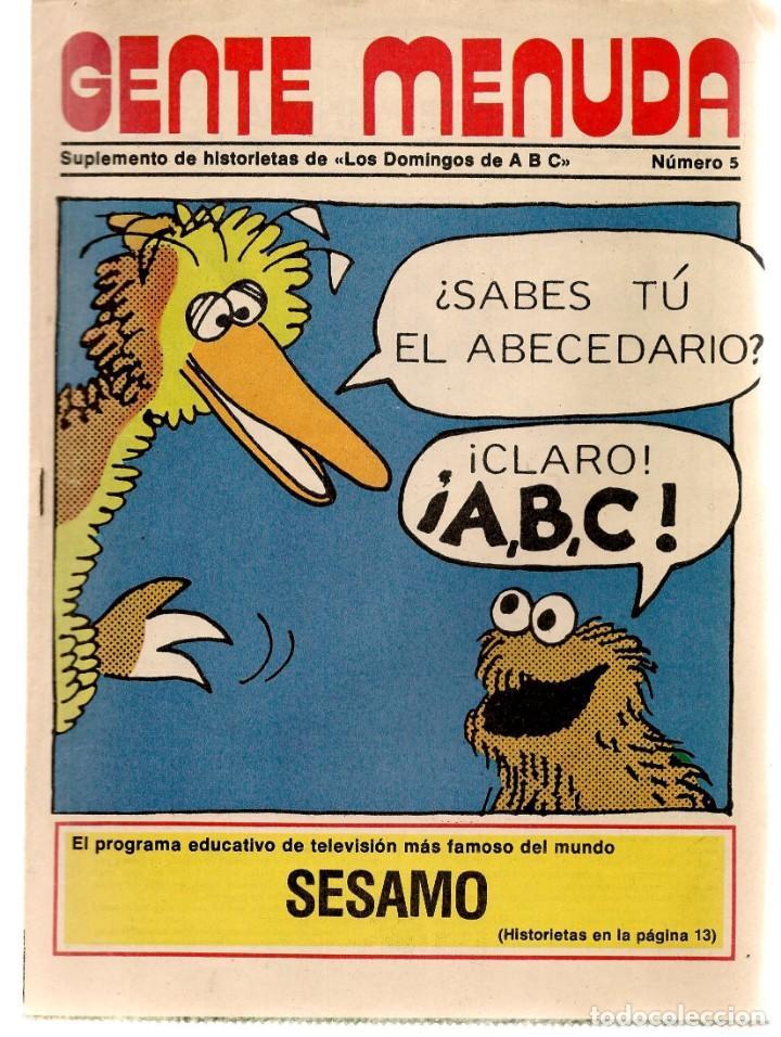 GENTE MENUDA. Nº 5. LOS DOMINGOS DE ABC. A B C. 1976. AT. DE MADRID. (ST/C86) (Coleccionismo - Revistas y Periódicos Modernos (a partir de 1.940) - Los Domingos de ABC)